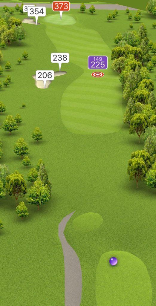 Hole 1 GPS