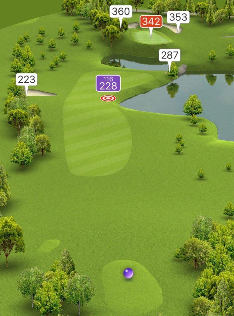 Hole 12 GPS