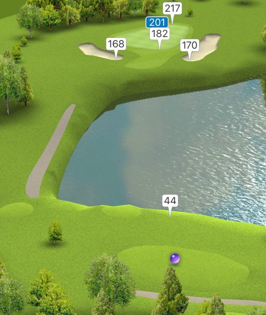 Hole 13 GPS