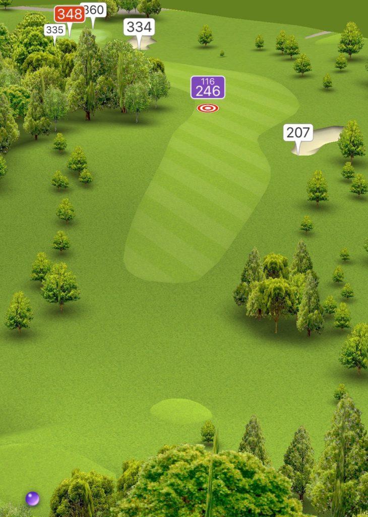 Hole 9 GPS
